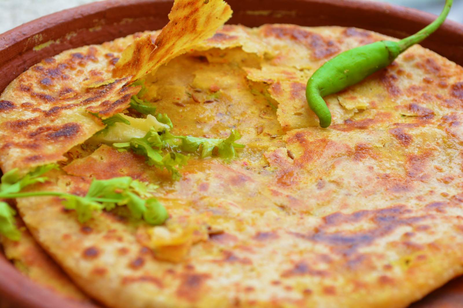 how to cook roti paratha