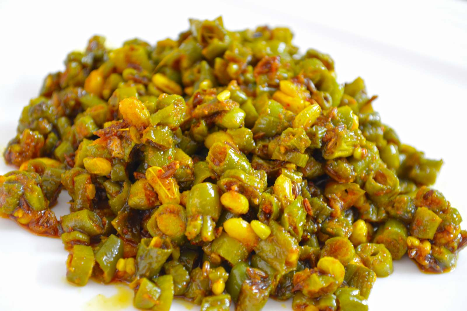 Green beans fry recipe by archanas kitchen green beans fry recipe forumfinder Choice Image
