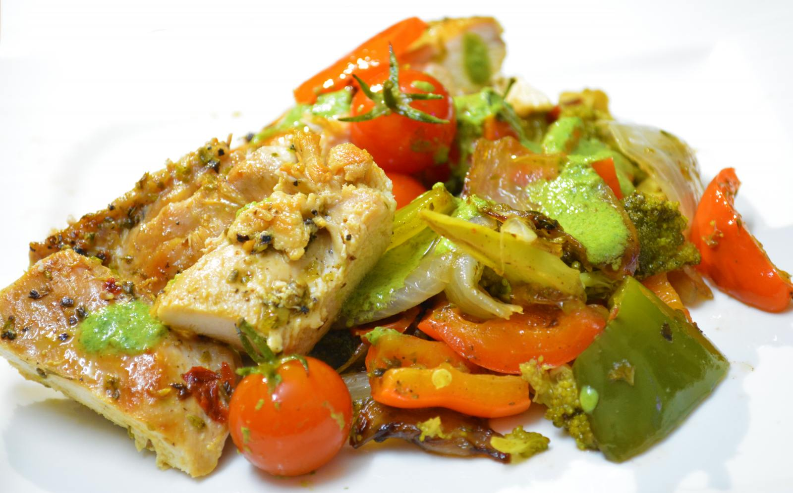 Grilled Chicken With Vegetables Recipe