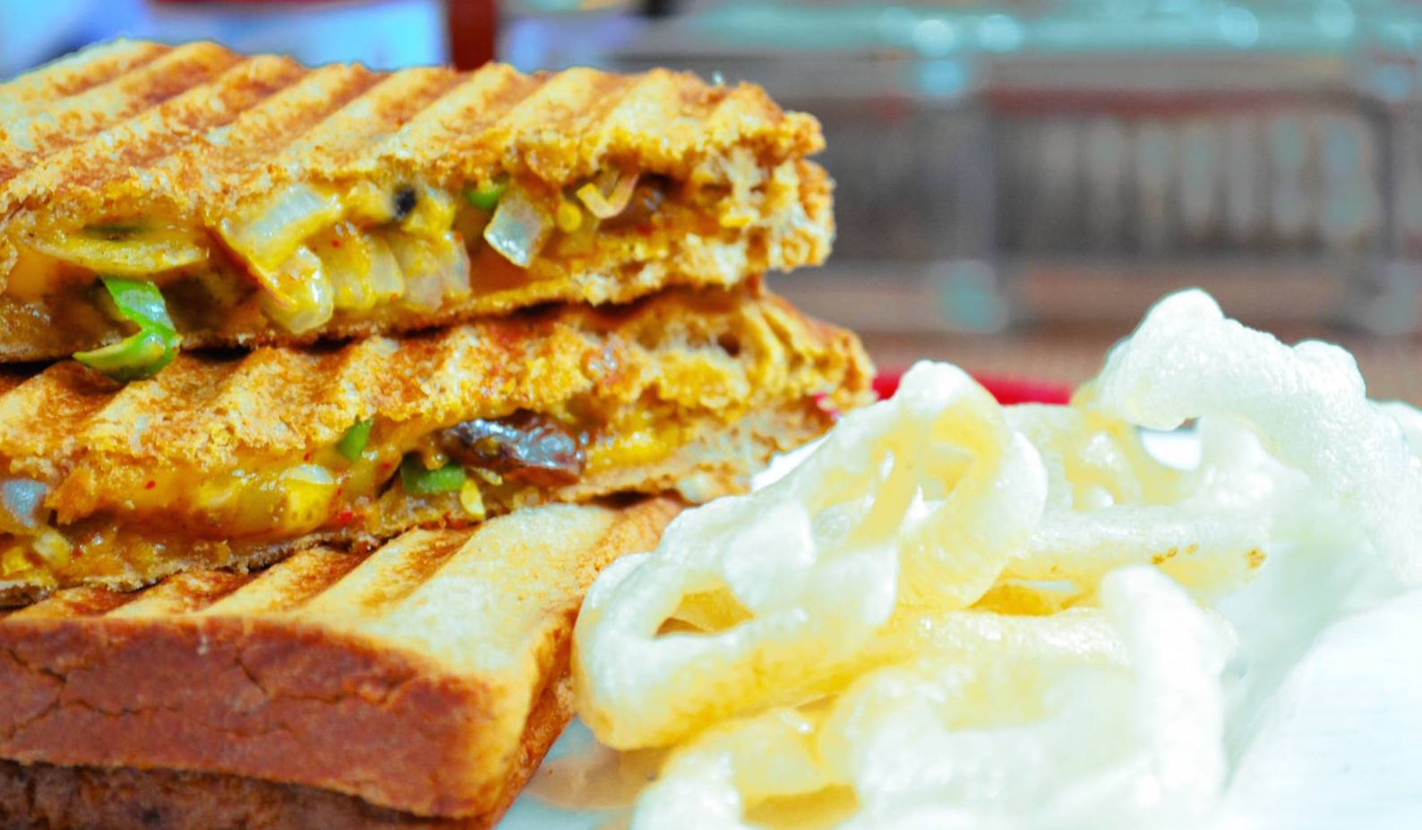 Grilled Rajma Masala Sandwich Recipe