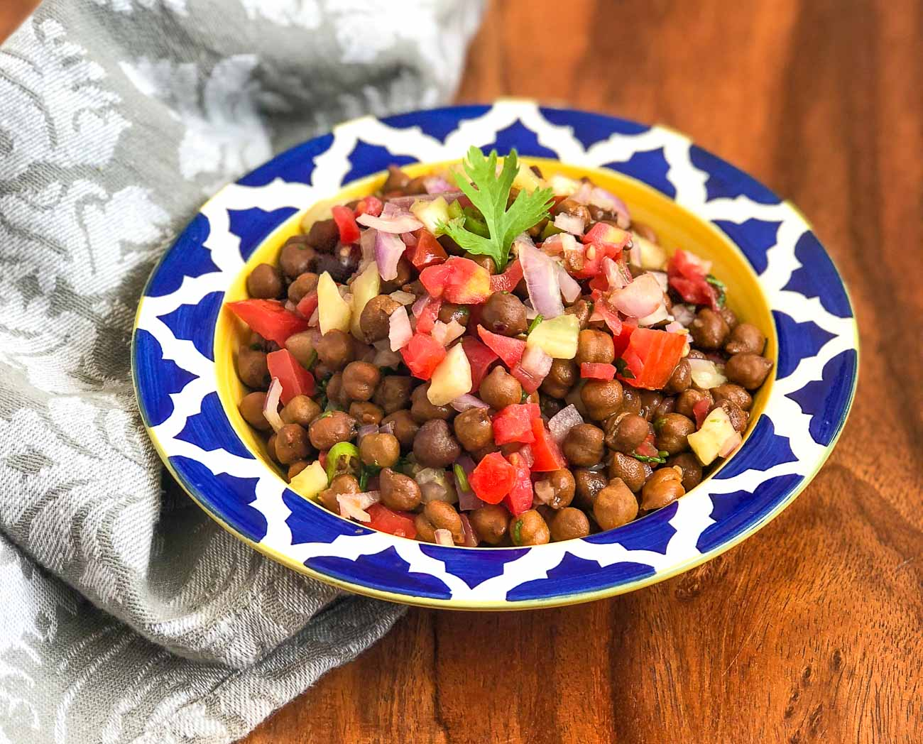 Indian Style Black Chickpea Salad Recipe