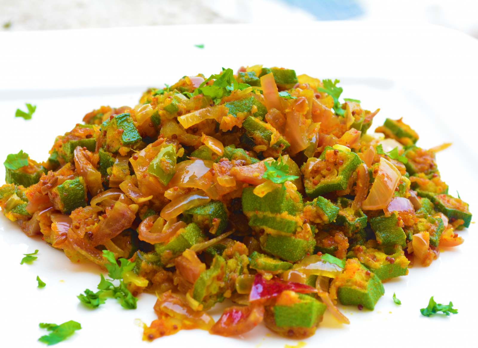 Kurkuri Bhindi And Onion Masala Recipe