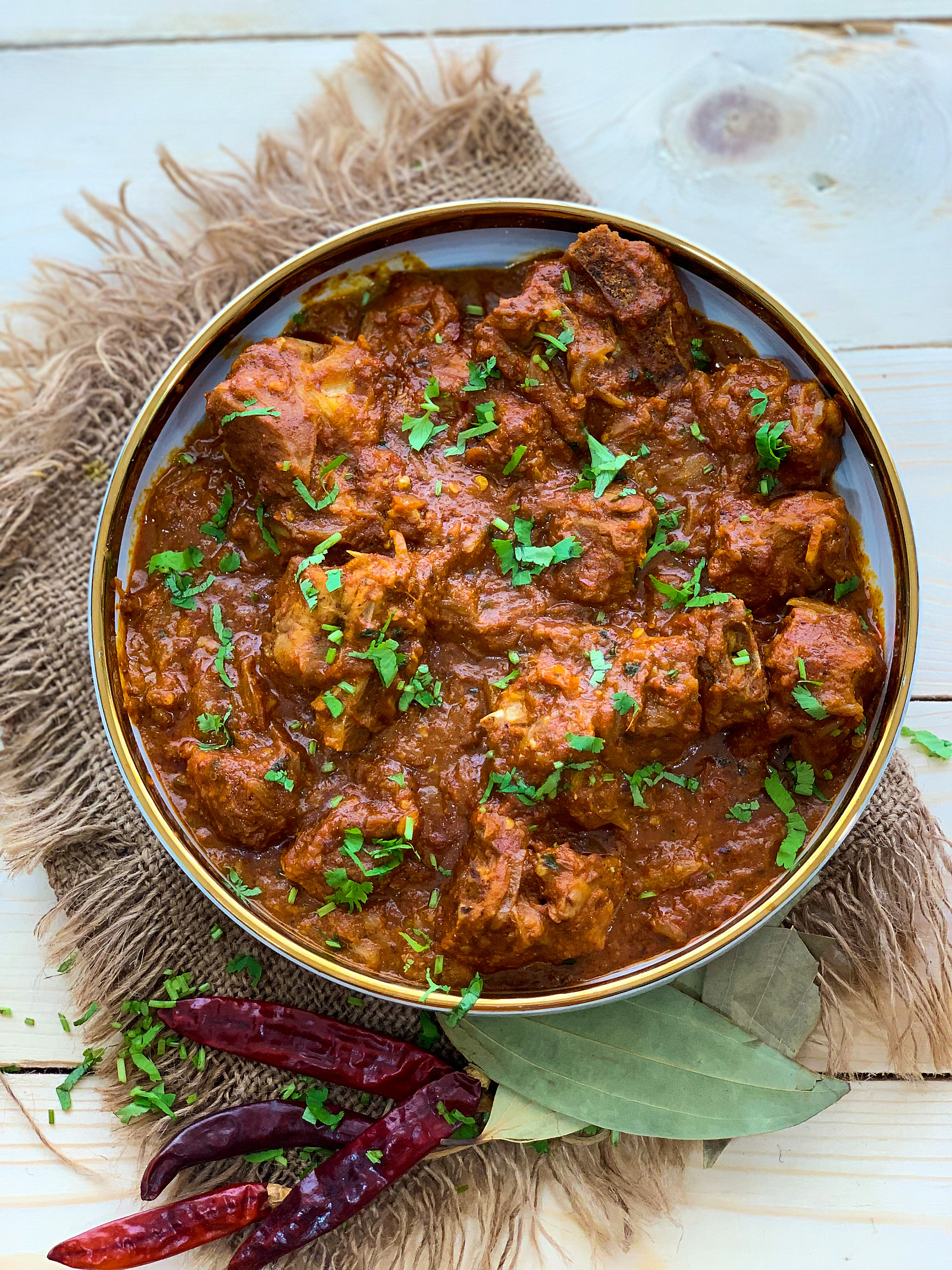 Rajasthani Laal Maas Recipe-Mutton In Red Spicy Gravy