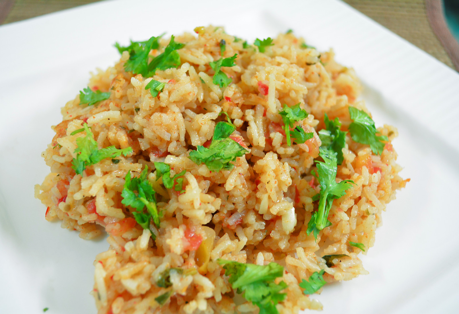 Tomato Rice With Basil Recipe