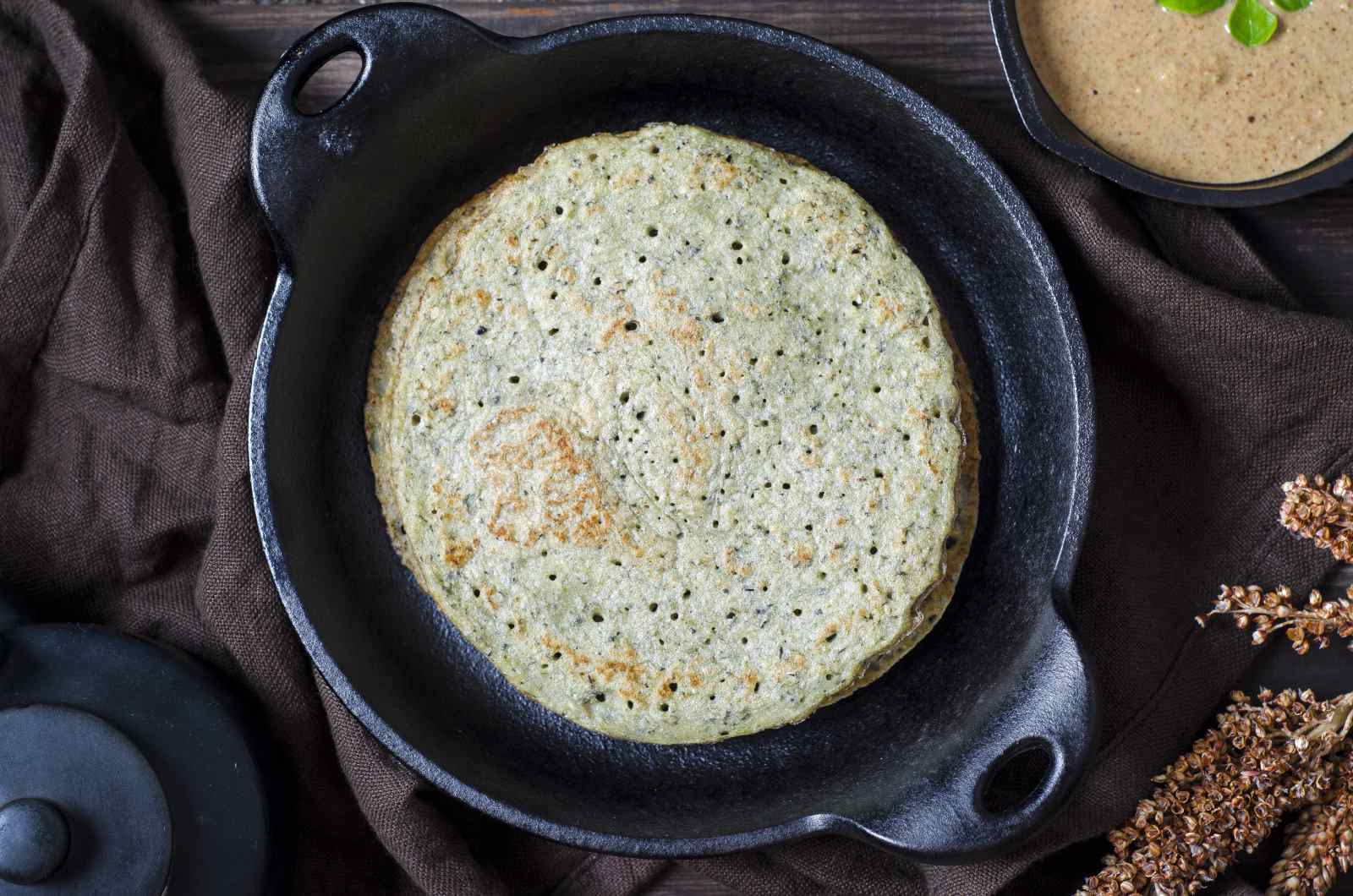 Bajra & Dal Cheela Recipe (Spicy Pearl Millet  & Lentil Crepe Recipe)