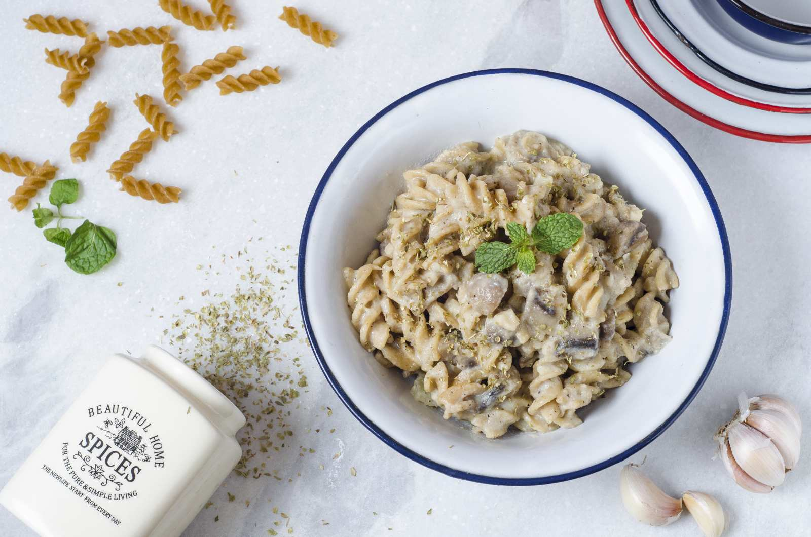 Burnt Garlic Pasta with Mushroom Recipe