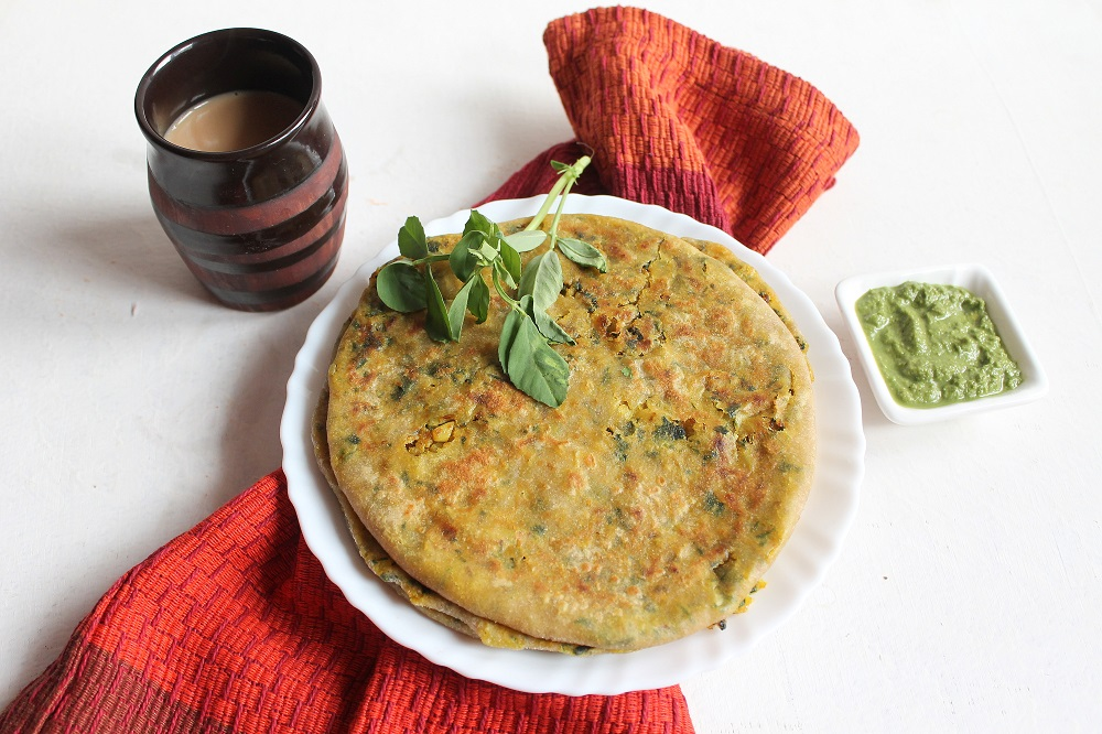 Cauliflower And Methi Paratha Recipe