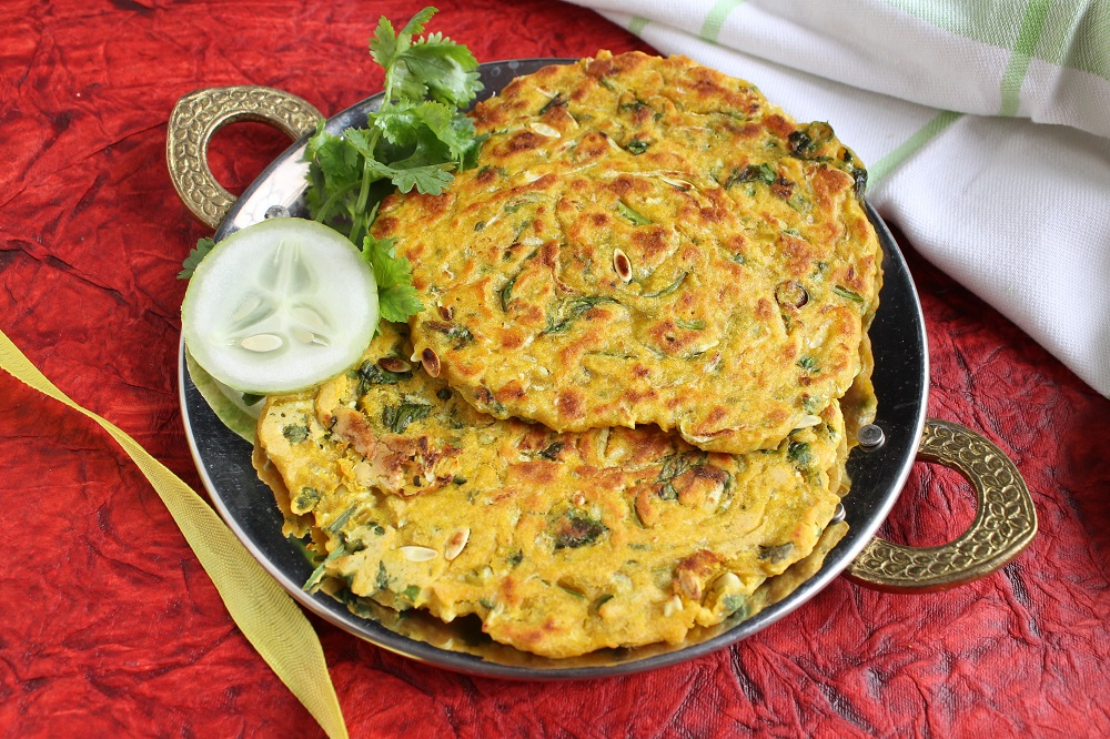 Maharashtrian Kakdi Thalipeeth Recipe - Spiced Cucumber Flat Bread