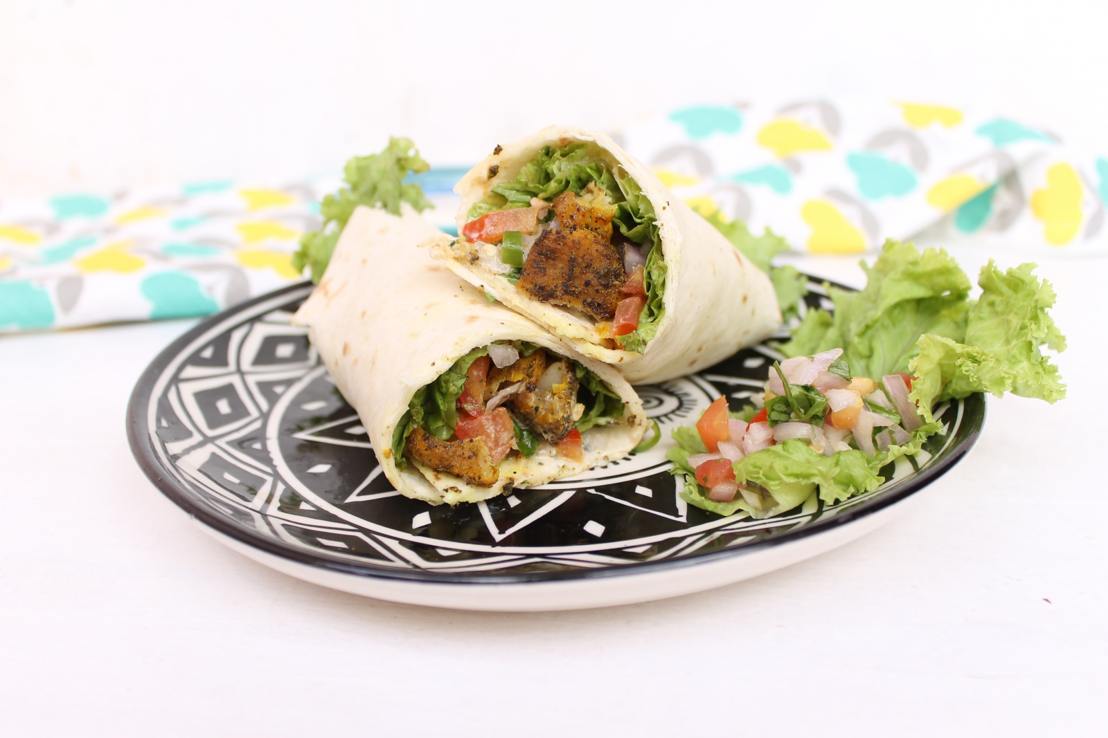 Mexican Low Fat Fish Wraps Recipe