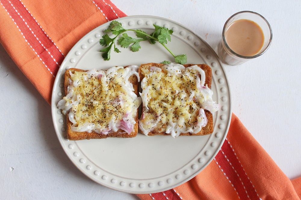 Onion And Parmesan Toast Recipe