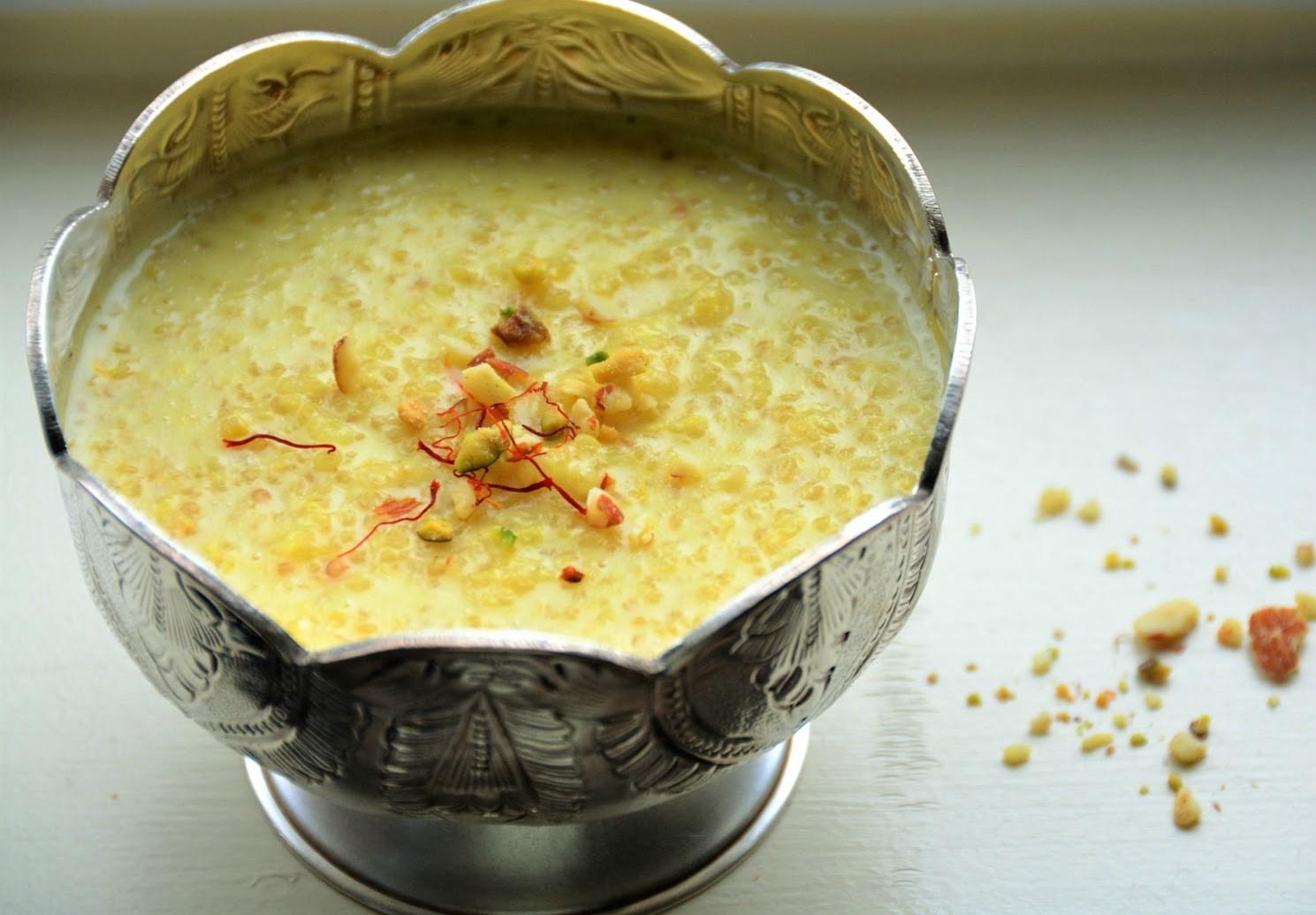 Quinoa phirnee recipe quinoa milk pudding by archanas kitchen quinoa phirnee recipe quinoa milk pudding forumfinder Image collections