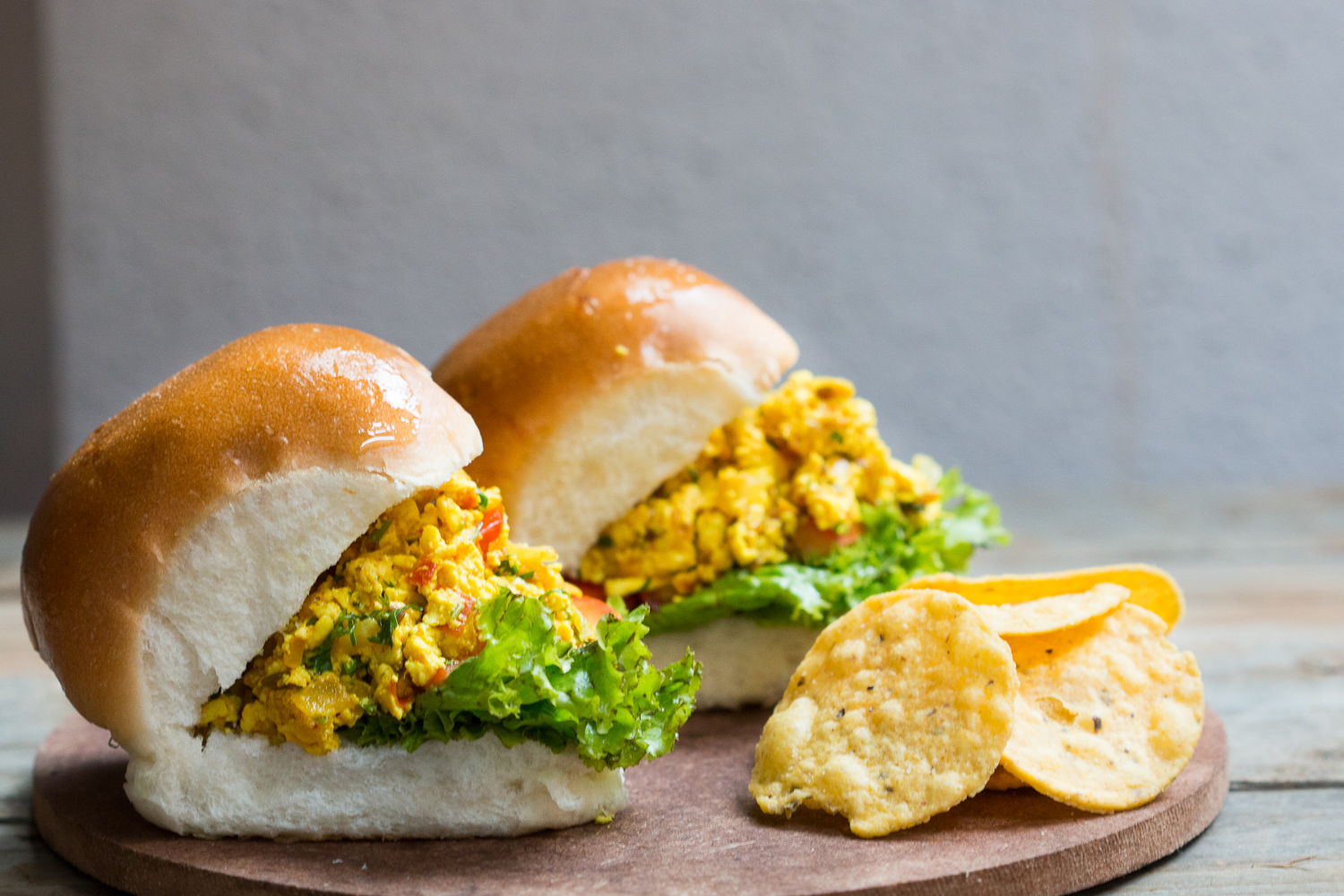 Spicy Paneer Bhurji Pav Sandwich Recipe