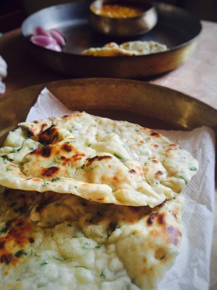 Garlic Naan Without Yeast Recipe
