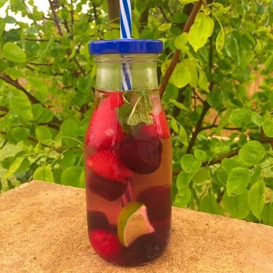 Lemon Cherry Berry Spa Water Recipe