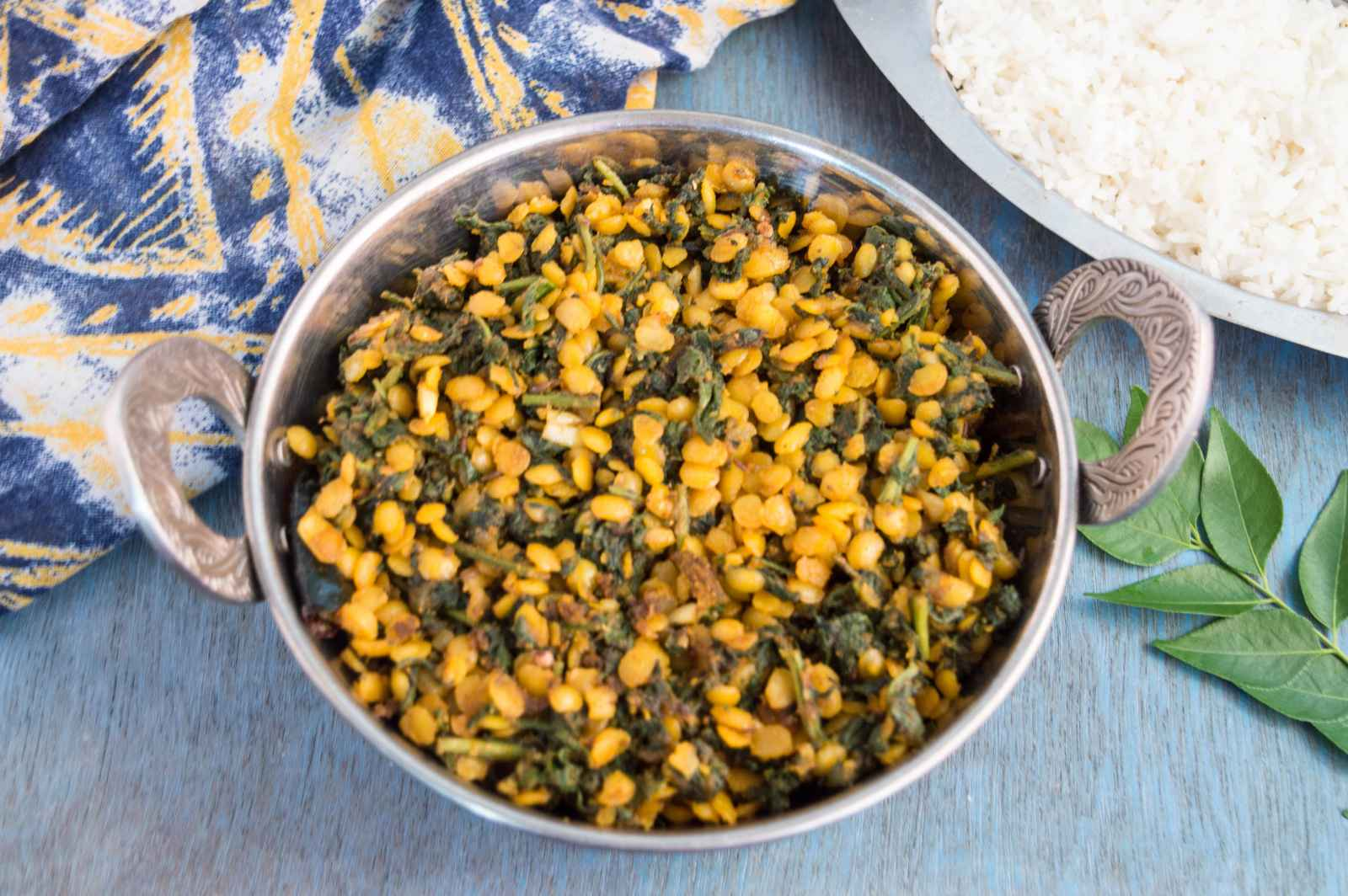Dry Palak Dal Sabzi Recipe by Archana's Kitchen