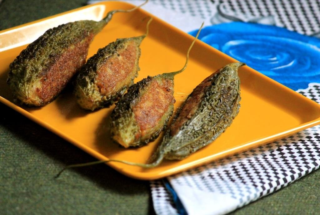 Stuffed Karela With Aloo Recipe