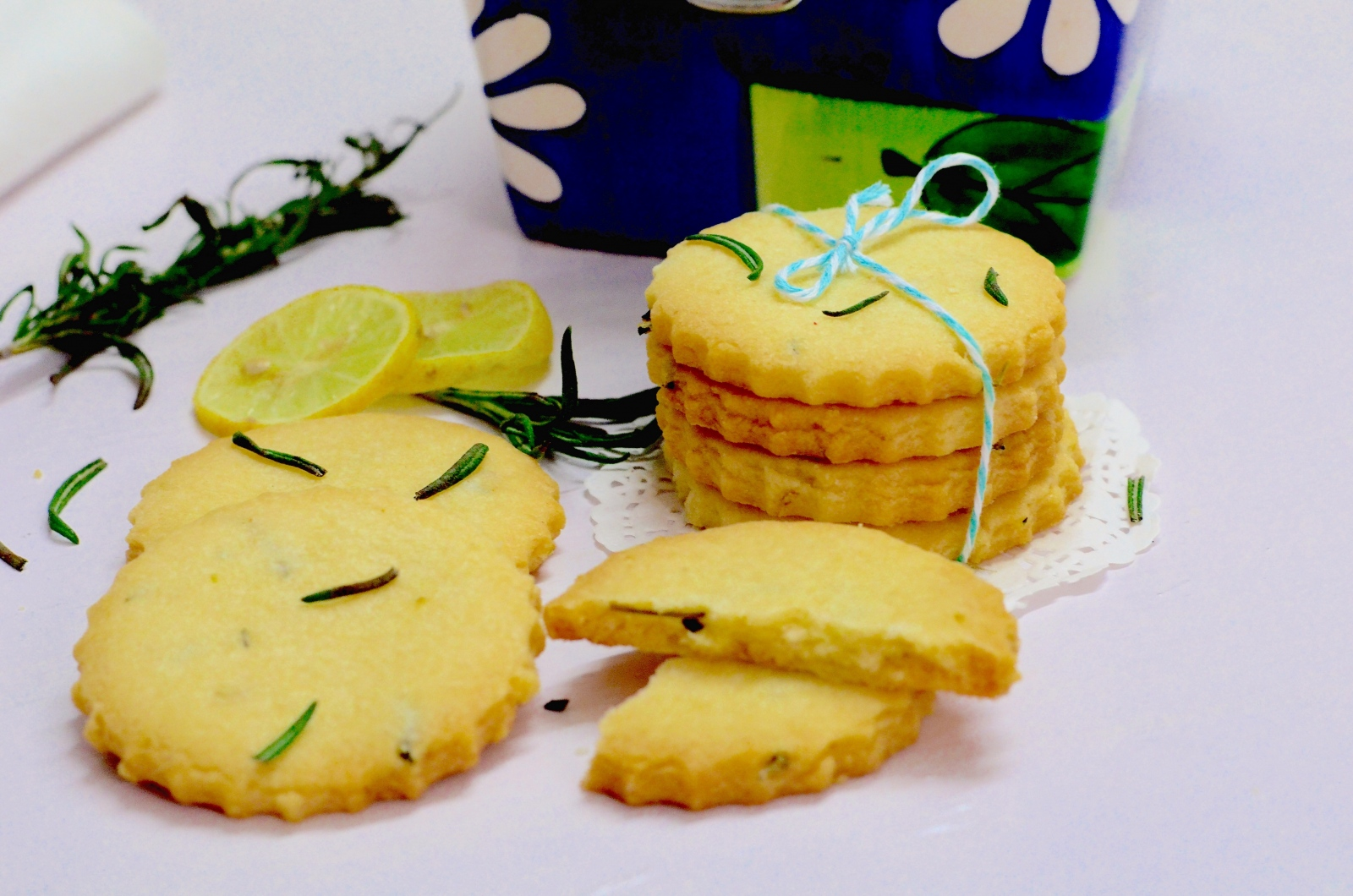 Lemon And Rosemary Shortbread Cookies Recipe