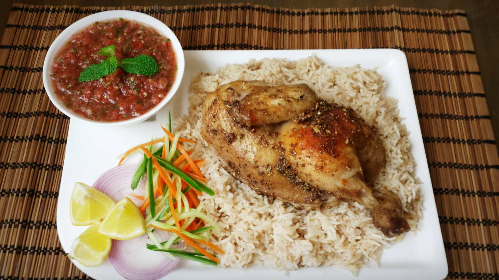 Arabian chicken mandi recipe by archanas kitchen arabian chicken mandi recipe yemeni style rice chicken forumfinder Choice Image