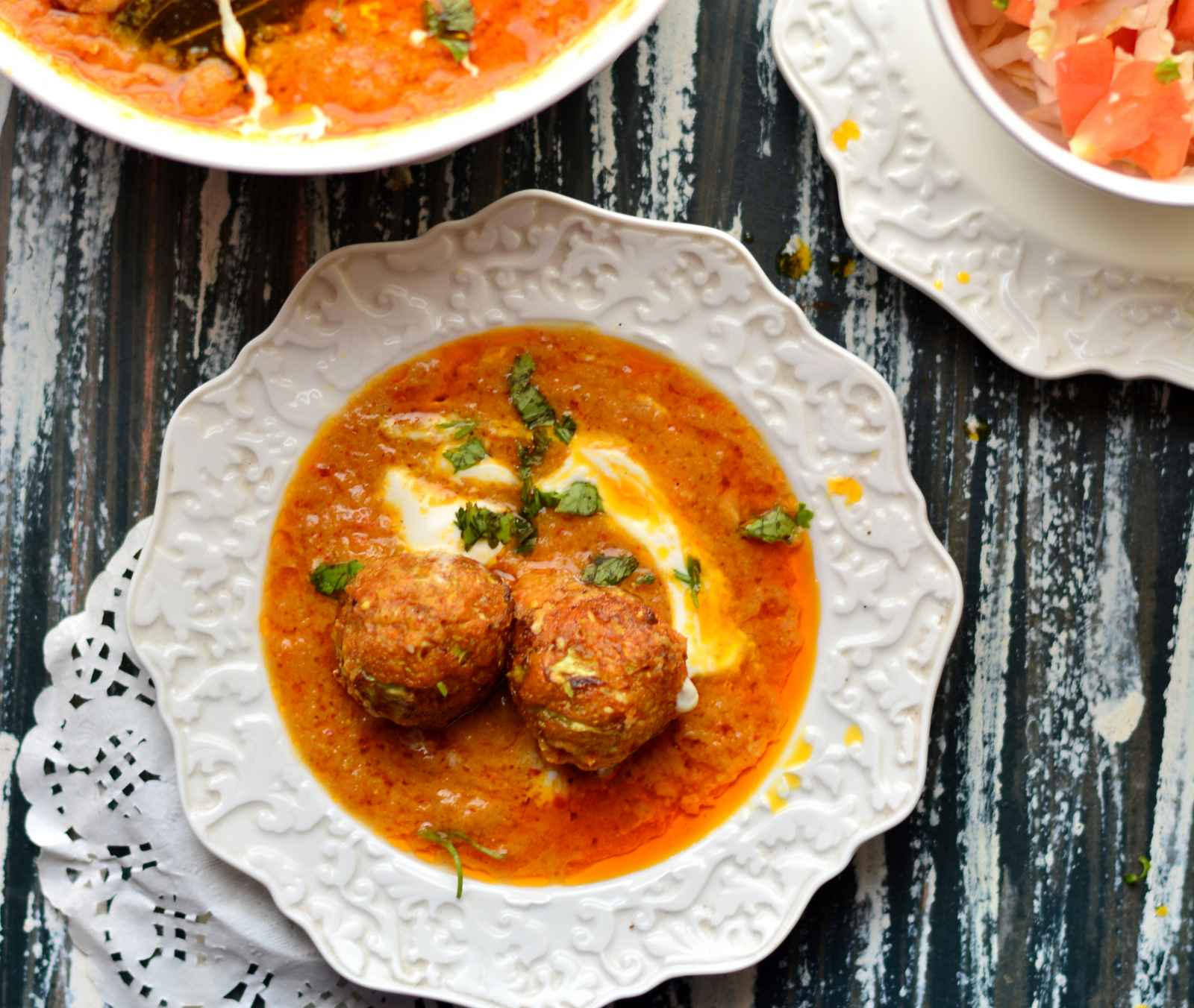 No Onion No Garlic Cabbage Kofta Curry Recipe