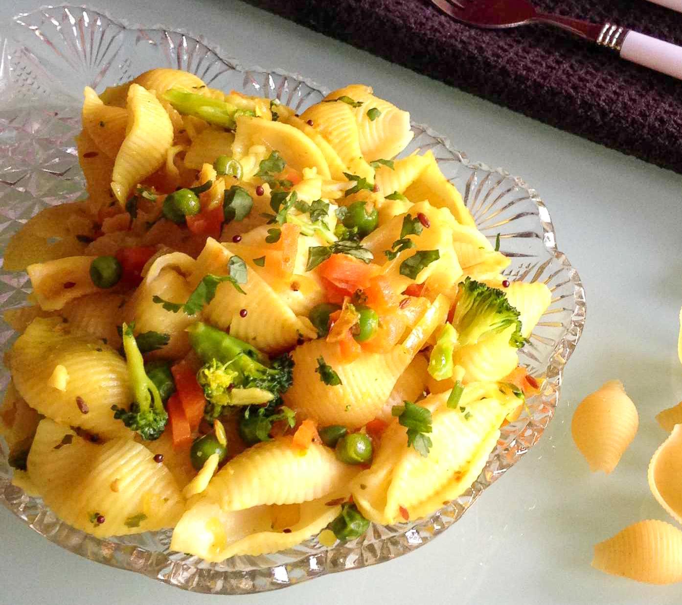 Desi style masala pasta recipe by archanas kitchen desi style masala pasta recipe indian style pasta forumfinder Gallery