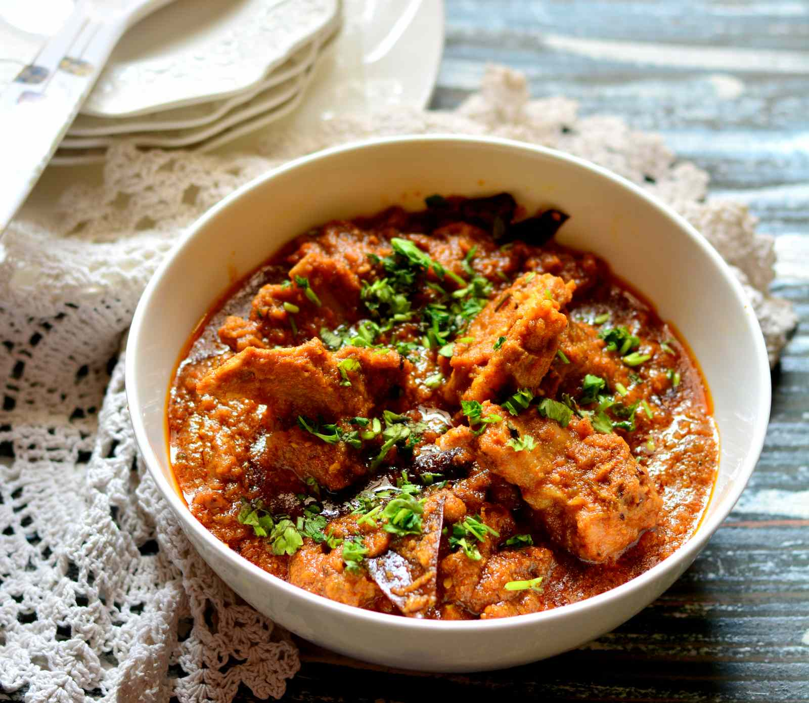 Kashmiri Rogan Josh Recipe - Mutton in Red Curry