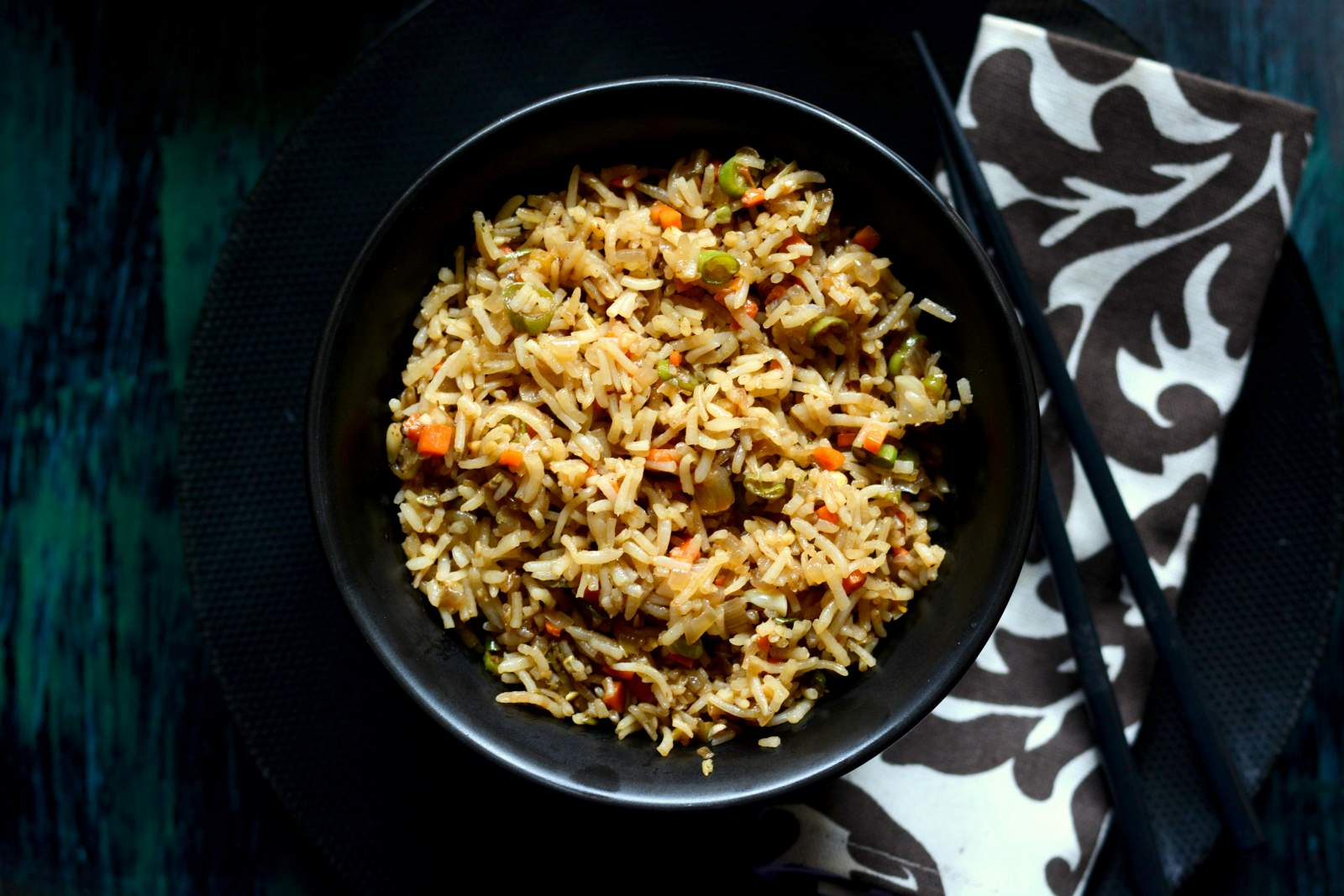 Vegetable Fried Brown Rice Recipe