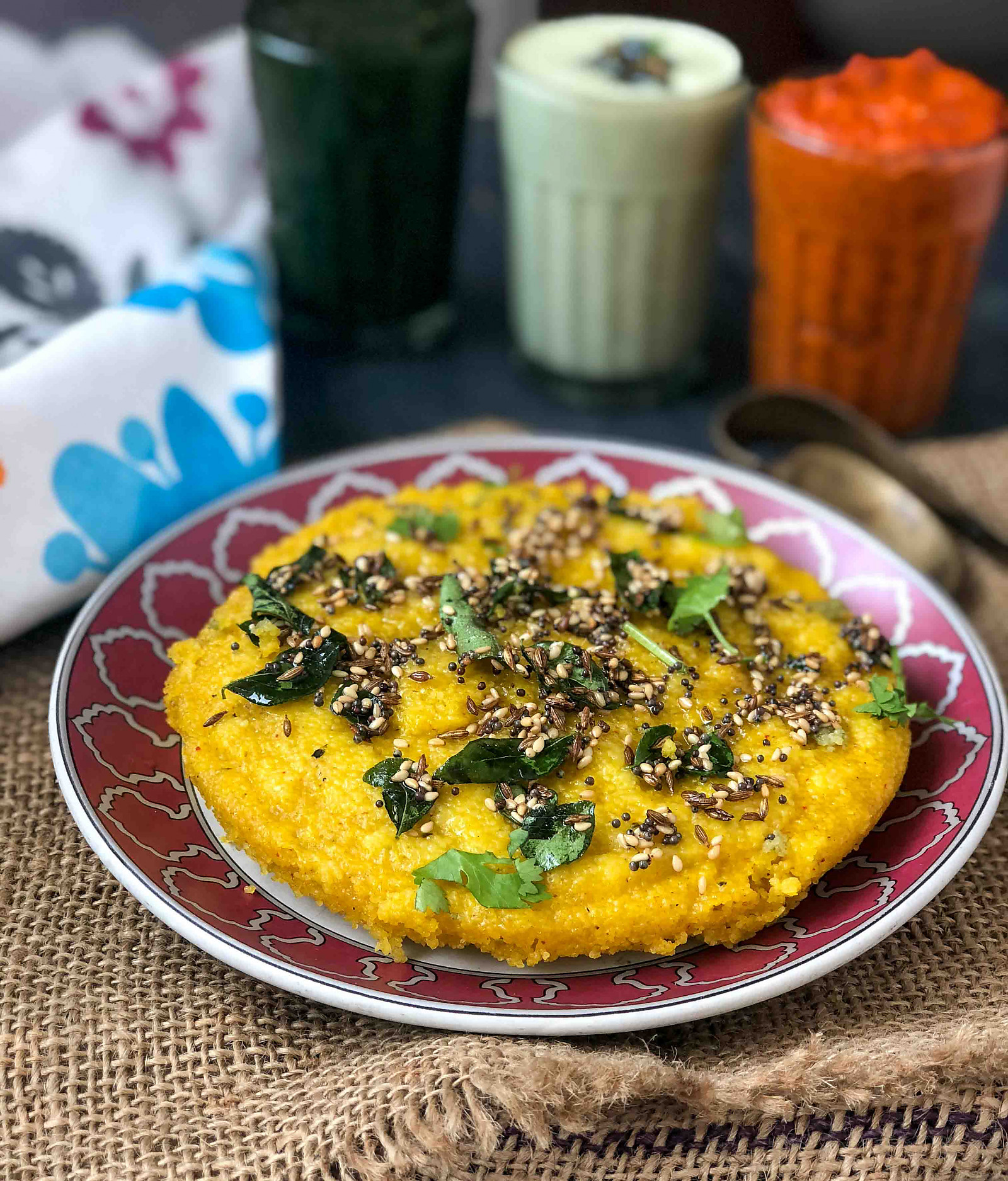 Roasted Pumpkin Rava Dhokla Recipe - Sooji Dhokla