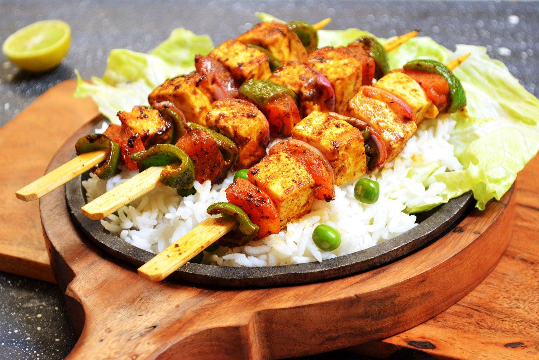 Paneer Shashlik Sizzler Recipe