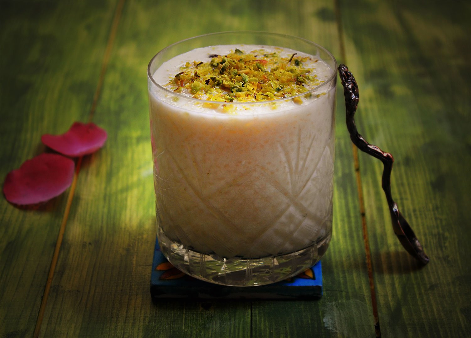 Lebanese Style Riz B Haleeb Recipe - Rice Pudding With Pistachios