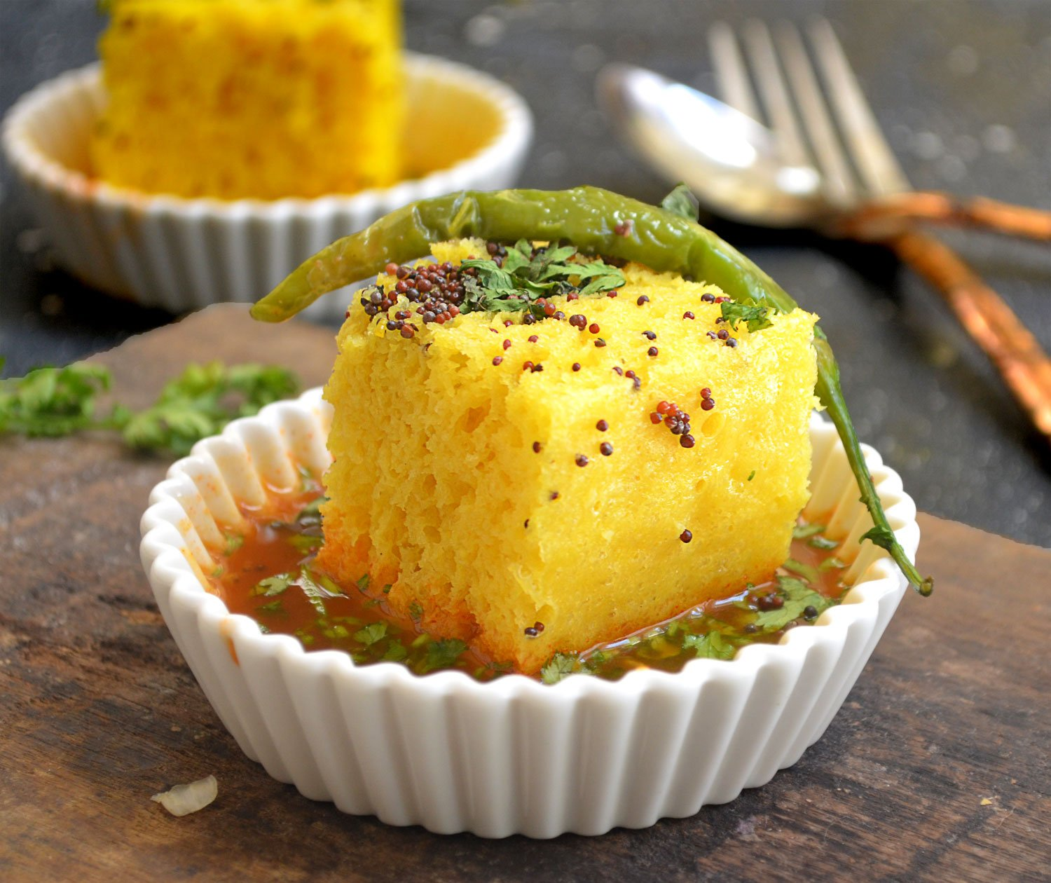 Rasawala dhokla recipe by archanas kitchen rasawala dhokla recipe forumfinder Choice Image