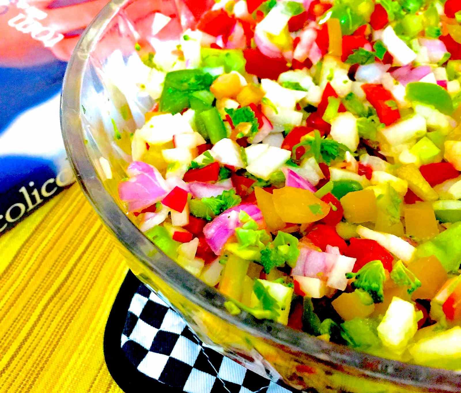 Green Apple, Radish & Pepper Salad Recipe By Archana's Kitchen