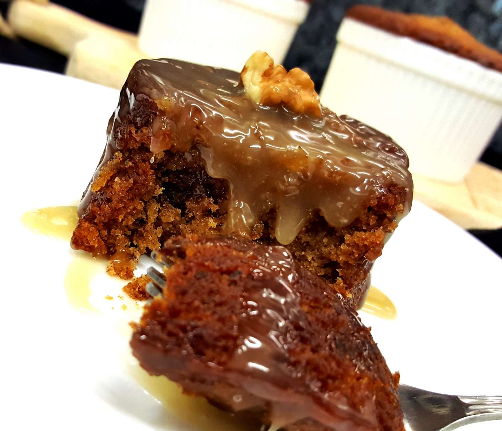 Coffee Cake With Butterscotch Pudding