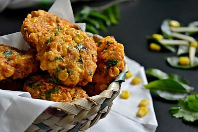 Andhra Style Corn Vada Recipe