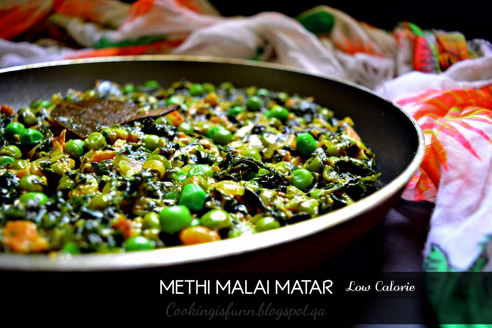 Dry Methi Malai Matar Recipe