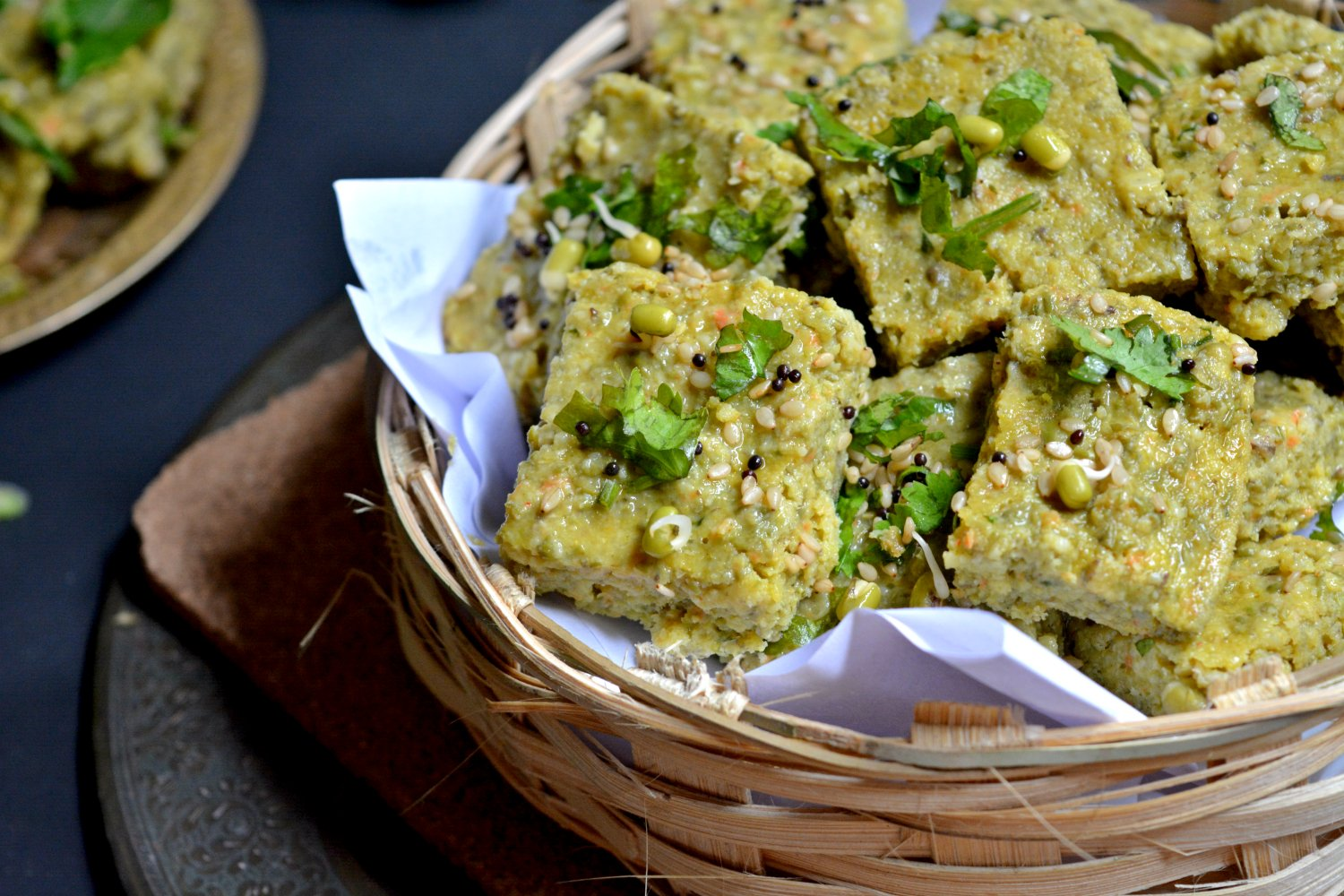 Sprouted moong dhokla recipe by archanas kitchen sprouted moong dhokla recipe forumfinder Choice Image