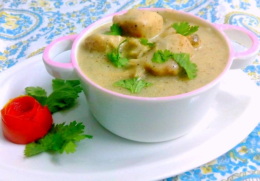 Chicken In White Gravy Recipe
