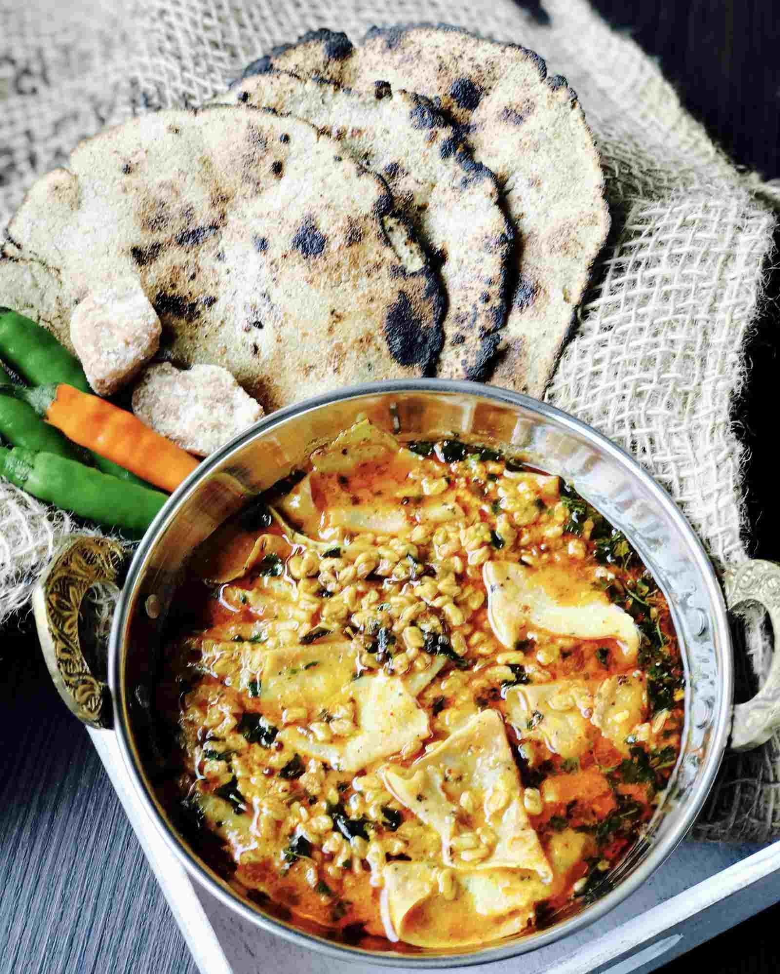 Rajasthani dana methi papad ka saag recipe by archanas kitchen rajasthani dana methi papad ka saag recipe forumfinder Choice Image
