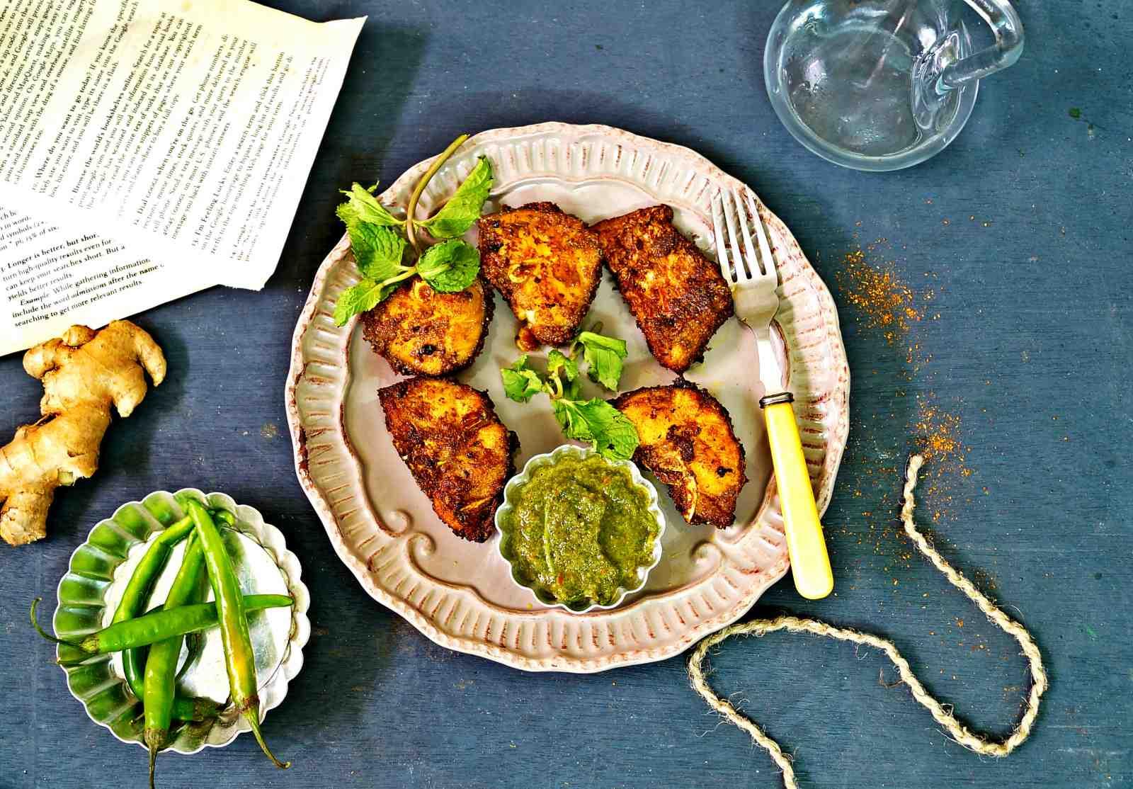Hariyali tawa fish fry recipe by archanas kitchen hariyali tawa fish fry recipe forumfinder Images