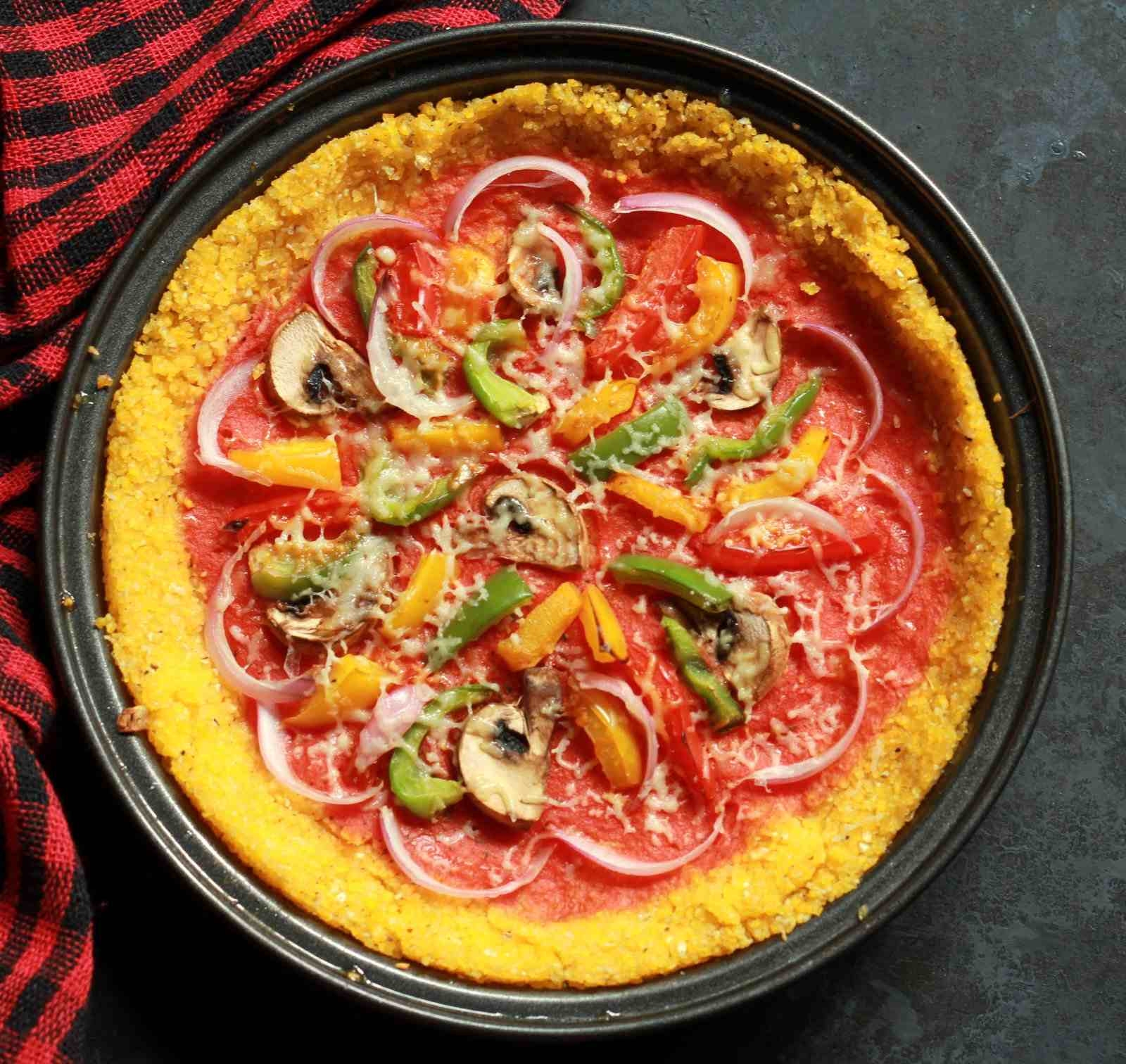 Polenta Pizza With Vegetables Recipe