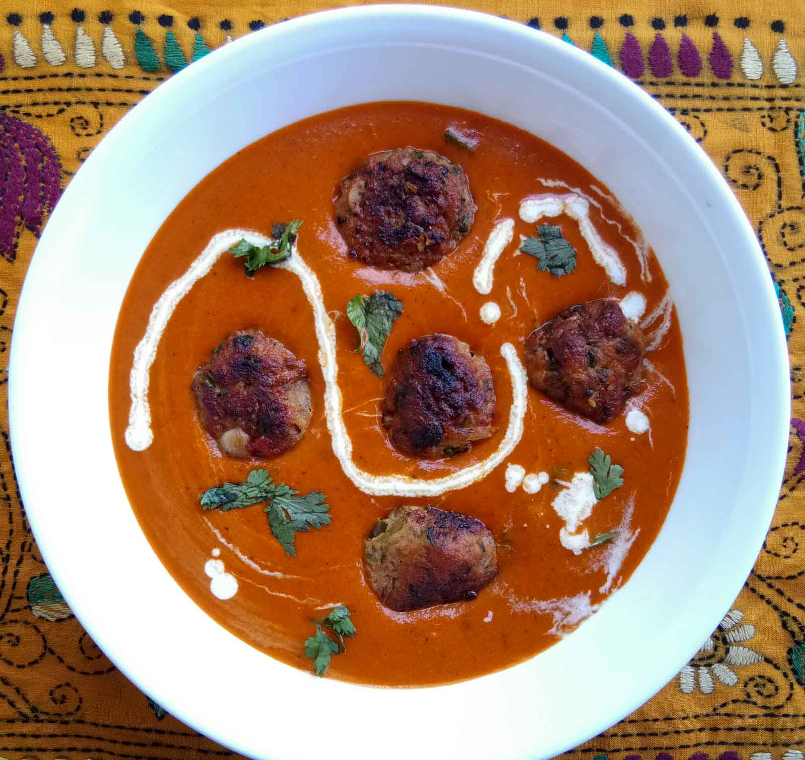 Chicken Meatballs In A Makhni Gravy Recipe