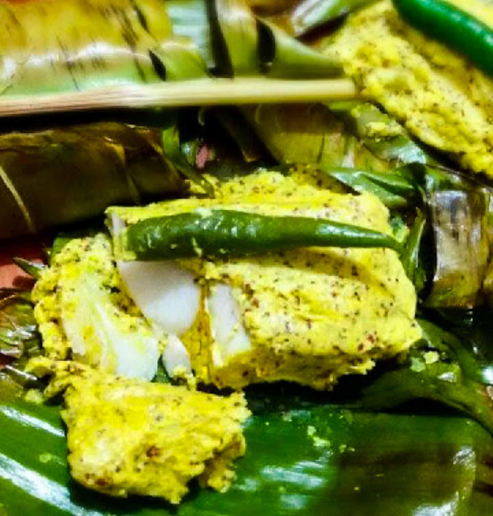Bengali bhetki macher paturi recipe barramundi fish wrapped in bengali bhetki macher paturi recipe barramundi fish wrapped in banana leaf forumfinder Choice Image