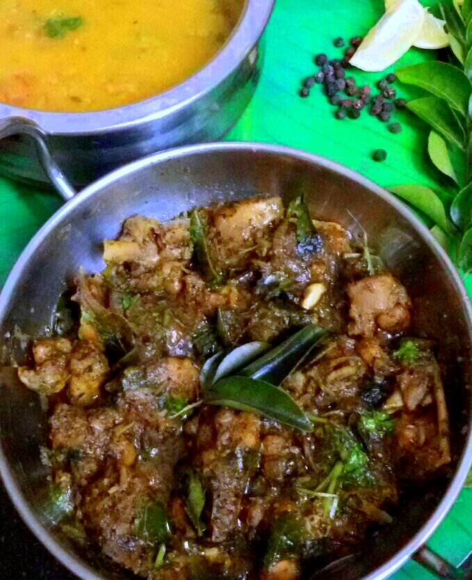 Andhra Pepper Chicken Recipe By Archanas Kitchen