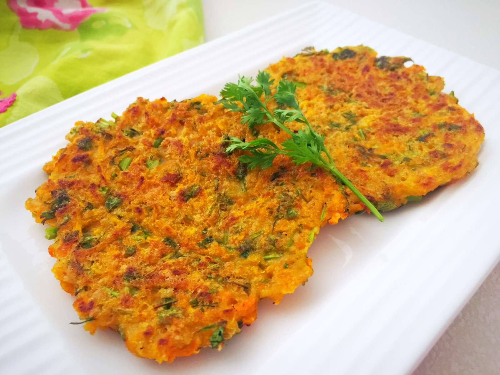 Carrots And Coriander Fritters Recipe