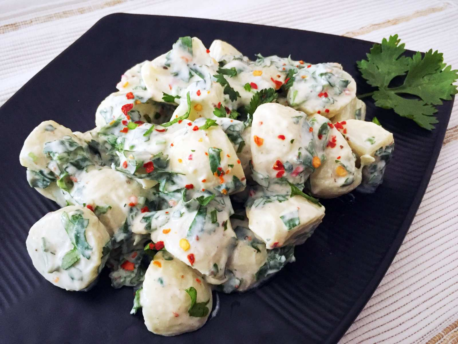 Cold Potato Salad With Cilantro Dressing Recipe