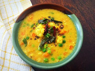 Poricha Kuzhambu Recipe Tamil Nadu Style Mixed Vegetables And