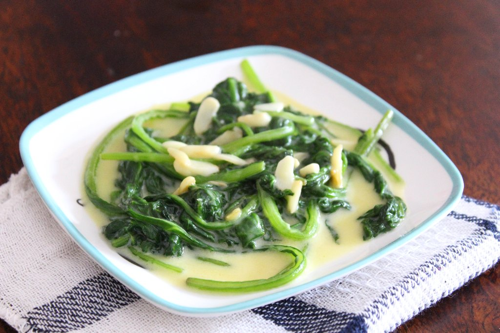 Sauteed Spinach With Garlic And Cheese Recipe