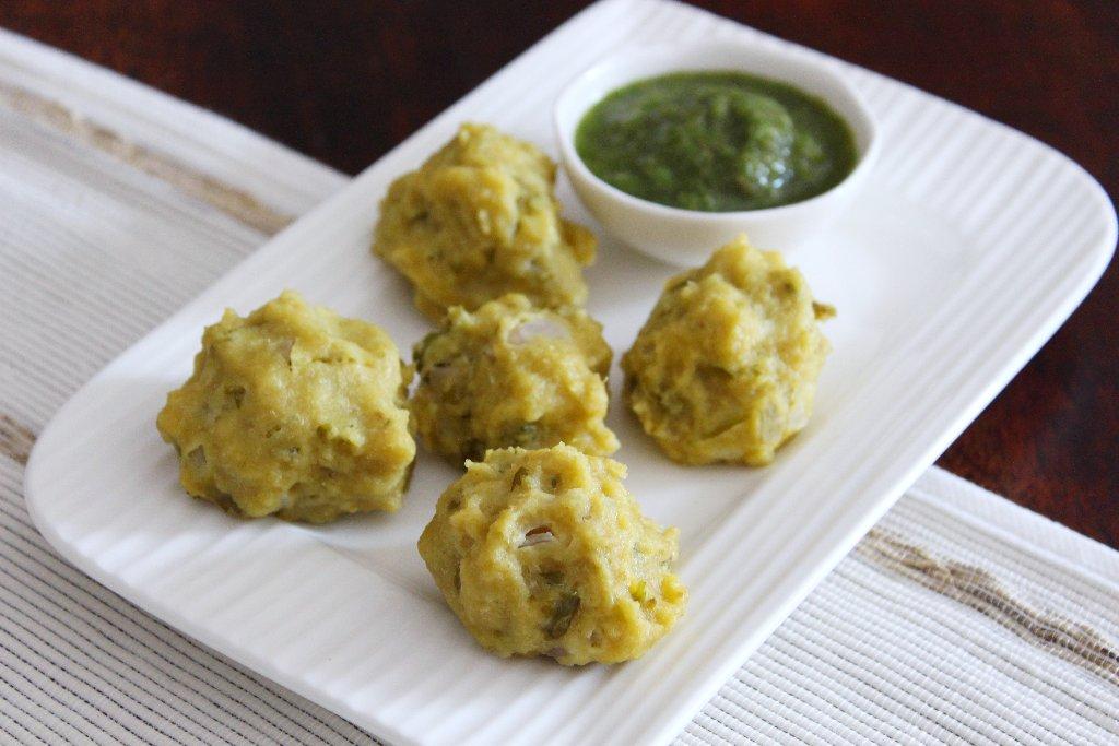 Steamed Bafauri Recipe (Bhojpuri Style Steamed Chana Dal Balls) by Archana's Kitchen