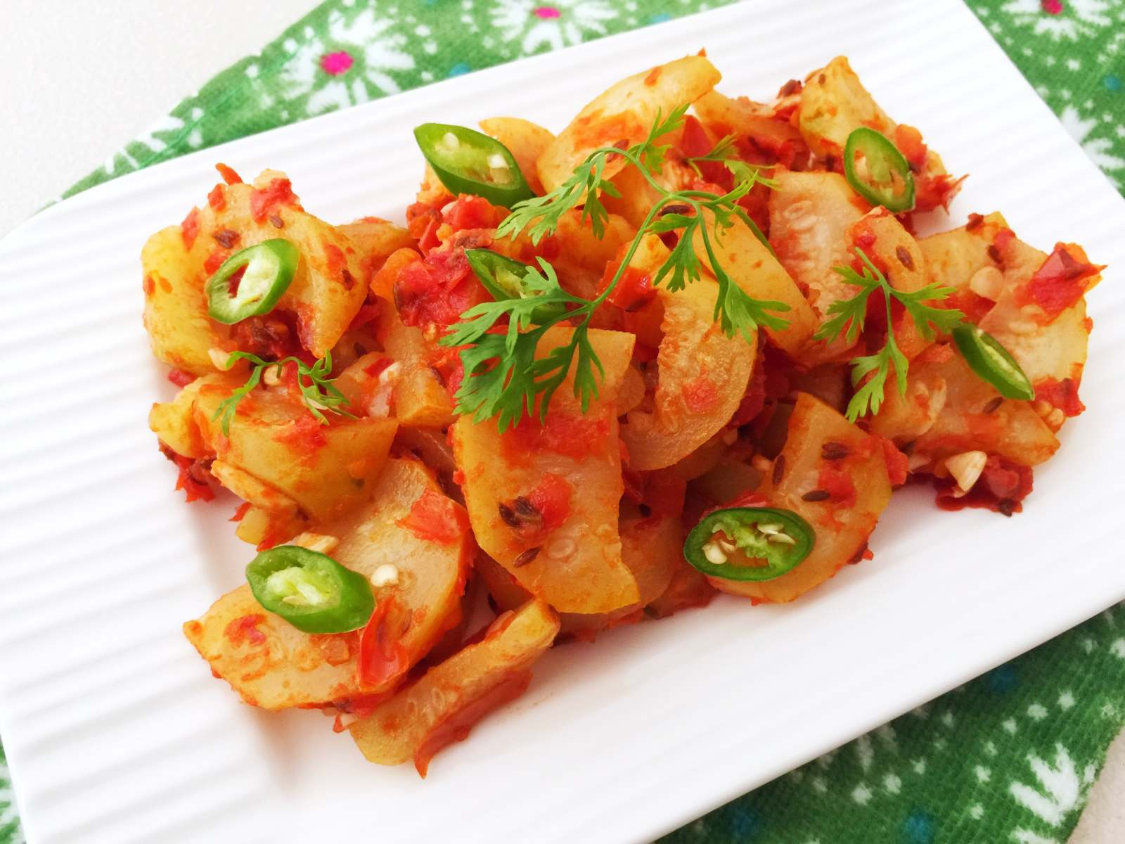 Image result for cooked food of apple and tomatoes