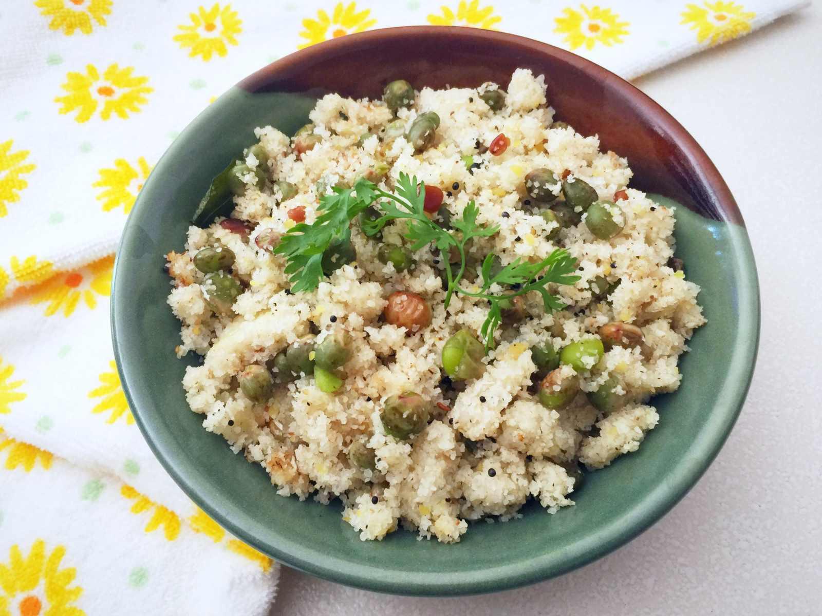 Togarikalu Akki Recipe Karnataka Style Rice Rava Upma With Fresh Pigeon Peas