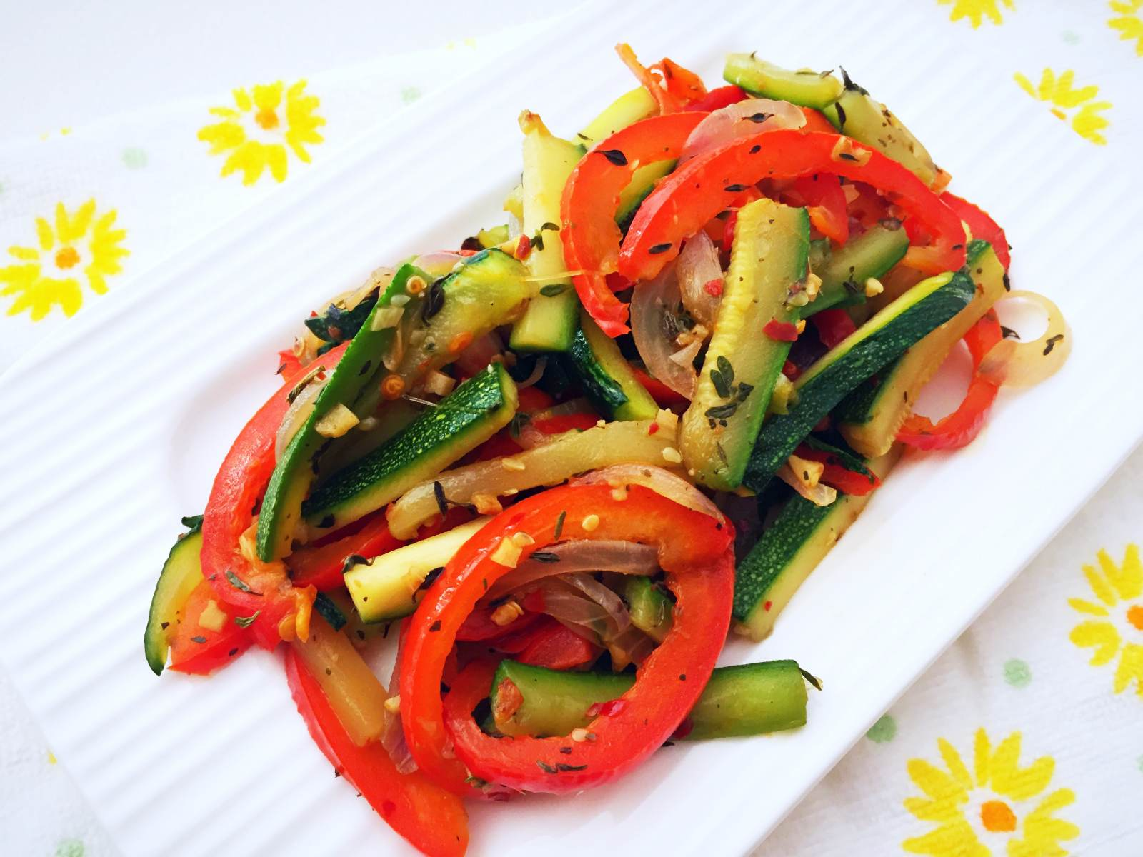 Zucchini And Bell Pepper Stir Fry Recipe